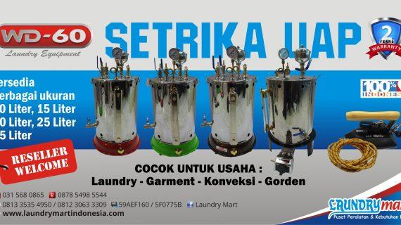 Setrika uap - boiler - wd60 - wd-60 - wd 60 - steam boiler - sertika uap laundry