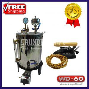 setrika uap 25 liter - setrika uap 25lt - steam boiler - setrika gas - setrika gas laundry - wd60 - wd 60 - wd-60