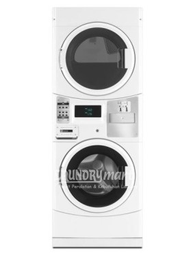 maytag - mesin coin laundry - stacked maytag - stacked maytag mle20pdcyw