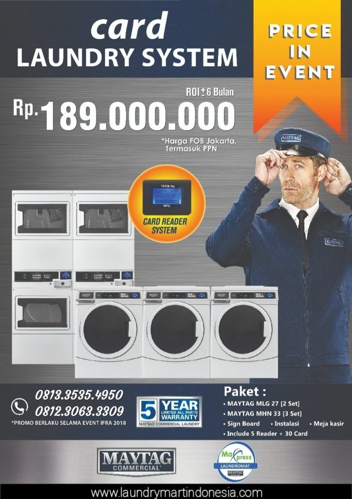 card laundry system - bisnis laundry - maxpress - maytag - 4