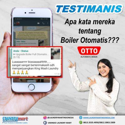 testimanis - laundry mart indonesia - otto boiler otomatis - setrika uap otomatis - otto setrika uap otomatis - peralatan laundry - kebutuhan laundry