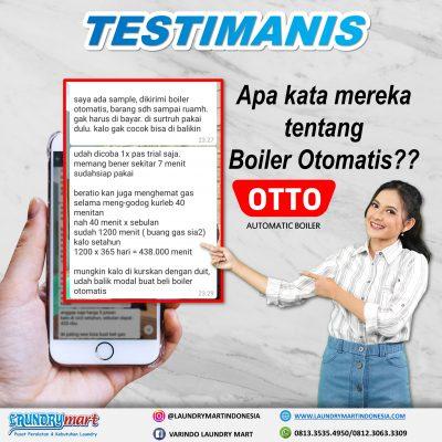 testimanis - laundry mart indonesia - otto boiler otomatis - setrika uap otomatis - otto setrika uap otomatis - peralatan laundry - kebutuhan laundry - otto