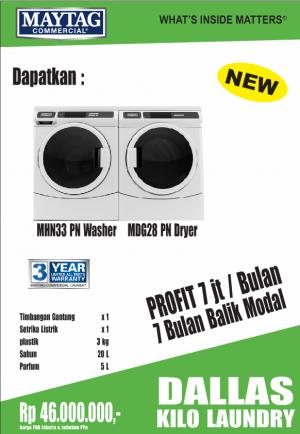 dallas1 kilo 300x434 - Flyer Peluang Usaha Laundry