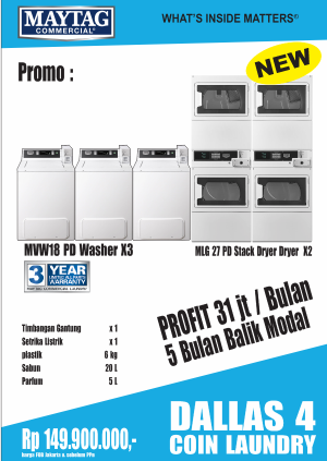 dallas4 coin 300x423 - PAKET USAHA LAUNDRY