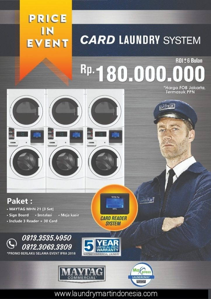 card laundry system - peluang bisnis - maxpress - maytag - 3