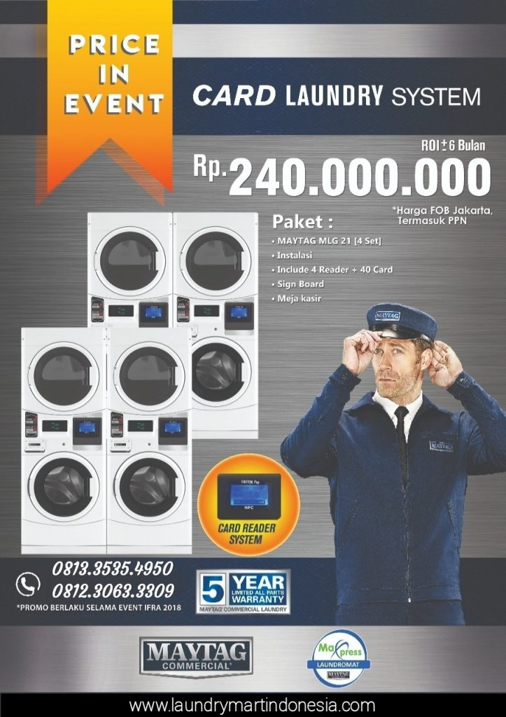 card laundry system - peluang laundry - maxpress - maytag - 5